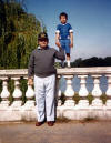 Michael with his father in London in 1983