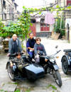 Thomas and his family with side-car bike